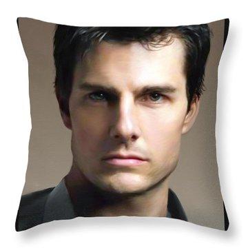 Tom Cruise Throw Pillow by Dominique Amendola
