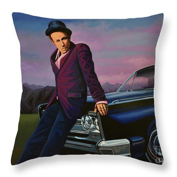 Tom Waits Throw Pillow by Paul Meijering