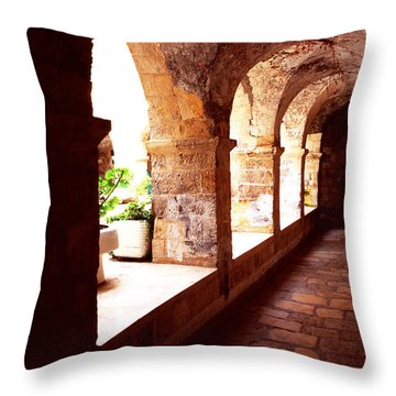 Tomb Of King David Throw Pillow by Thomas R Fletcher