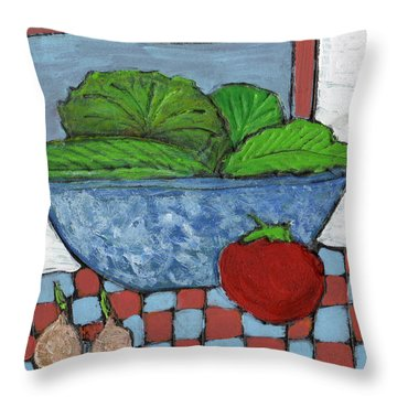 Tonight's Salad Throw Pillow by Wayne Potrafka