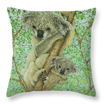 Top Of The Tree Throw Pillow by Pat Scott