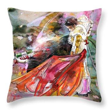 Toroscape 45 Throw Pillow by Miki De Goodaboom