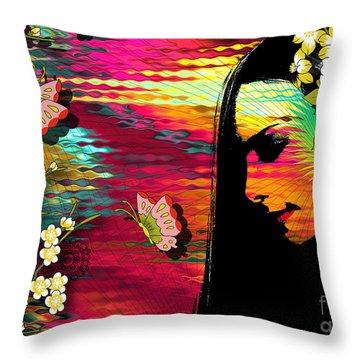 Totality Throw Pillow by Ramneek Narang
