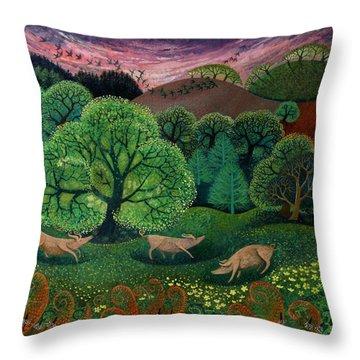 Totally Organic  Throw Pillow by Lisa Graa Jensen