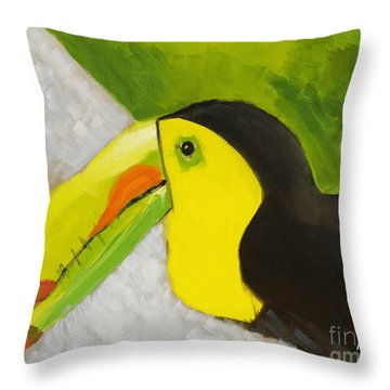 Toucan Throw Pillow by Katie OBrien - Printscapes