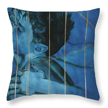 Touch Throw Pillow by Rene Capone