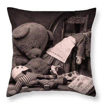 Toys Throw Pillow by Tom Mc Nemar