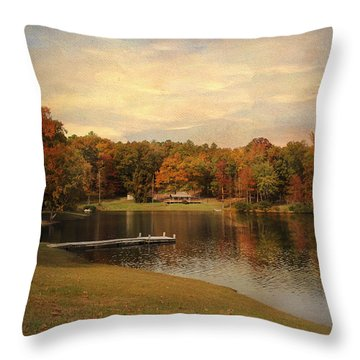 Tranquility Throw Pillow by Jai Johnson