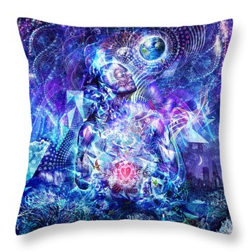 Transcension Throw Pillow by Cameron Gray