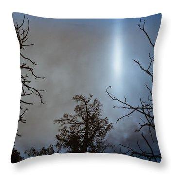 Tree Flash Throw Pillow by Scott Sawyer