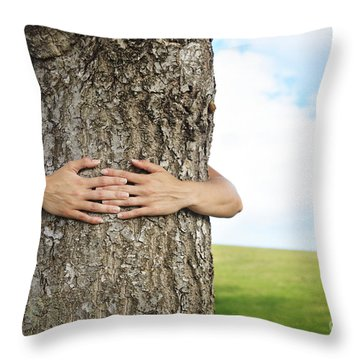 Tree Hugger 2 Throw Pillow by Brandon Tabiolo - Printscapes