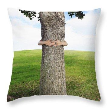 Tree Hugger 3 Throw Pillow by Brandon Tabiolo - Printscapes