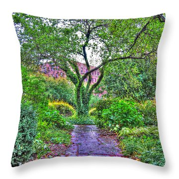 Tree Of Life At St. Luke In The Field Church Throw Pillow by Randy Aveille