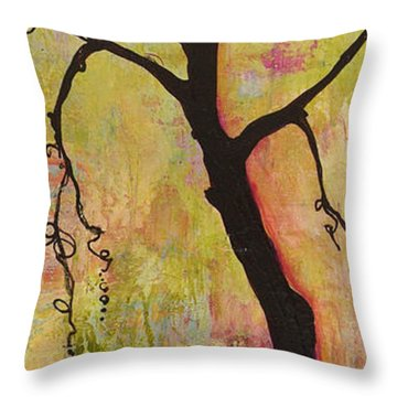Tree Print Triptych Section 1 Throw Pillow by Blenda Studio