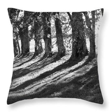 Treeline Throw Pillow by Amy Tyler