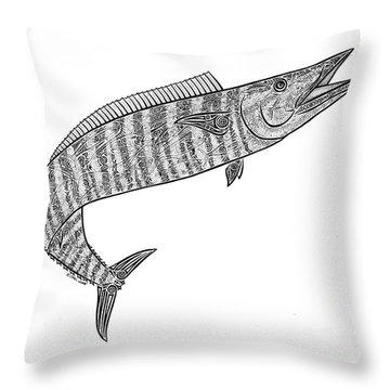 Tribal Ono Throw Pillow by Carol Lynne
