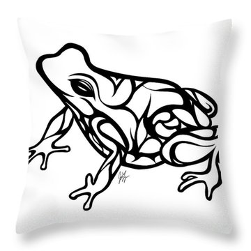 Tribal Ribbet  Throw Pillow by Jamie Lynn