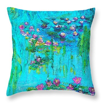 Tribute To Monet Throw Pillow by Holly Martinson