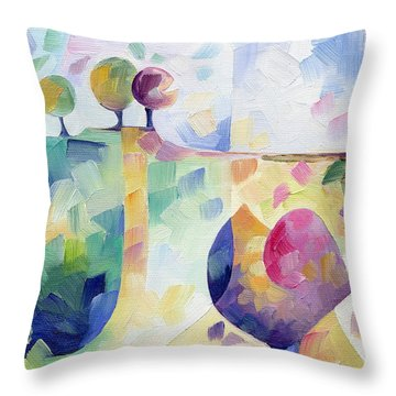 Trio Throw Pillow by Beatrice BEDEUR