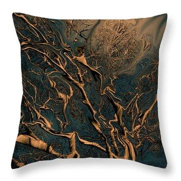 Trippy Tree Throw Pillow by Linda Sannuti