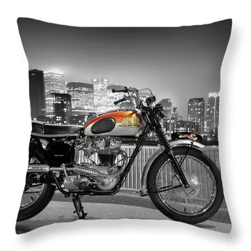 Triumph Bonneville 1962 Throw Pillow by Mark Rogan