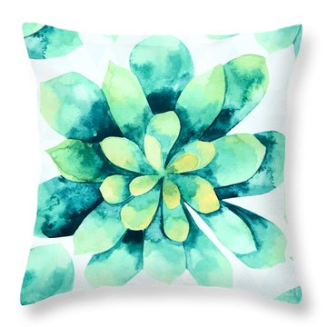 Tropical Flower  Throw Pillow by Mark Ashkenazi