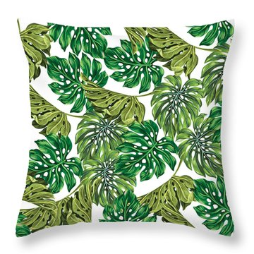 Tropical Haven  Throw Pillow by Mark Ashkenazi