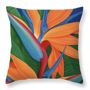 Tropical Paradise Throw Pillow by Lisa Bentley