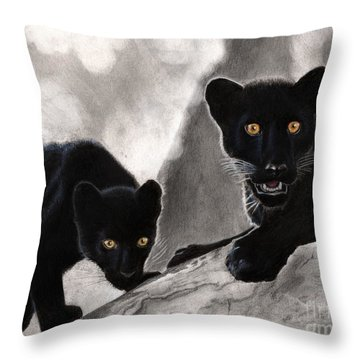 Trouble Throw Pillow by Christian Conner