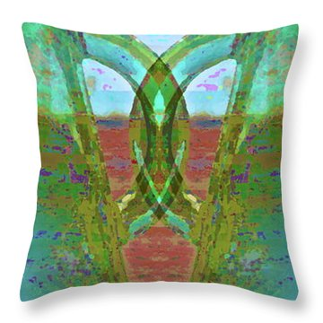 True Form Throw Pillow by Gwyn Newcombe