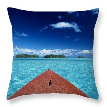 Tuamotu Islands, Raiatea Throw Pillow by William Waterfall - Printscapes