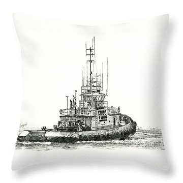 Tugboat Daniel Foss Throw Pillow by James Williamson
