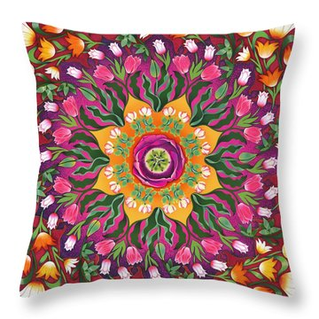 Tulip Mania 2 Throw Pillow by Isobel  Brook Haslam