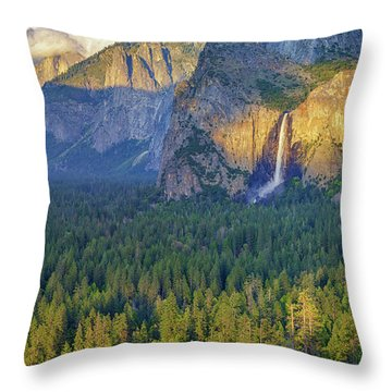 Tunnel View At Sunset Throw Pillow by Rick Berk