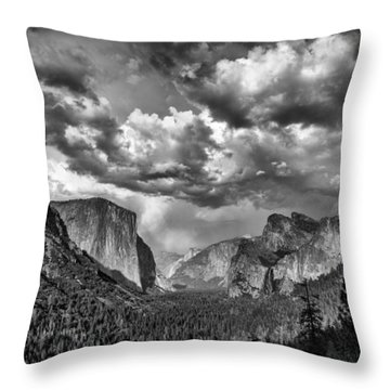 Tunnel View In Black And White Throw Pillow by Rick Berk