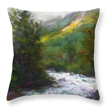 Turbulence Throw Pillow by Talya Johnson