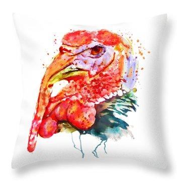 Turkey Head Throw Pillow by Marian Voicu