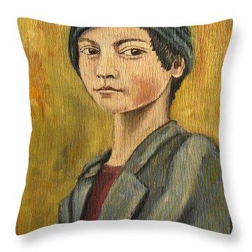 Turkish Boy Throw Pillow by John Keaton