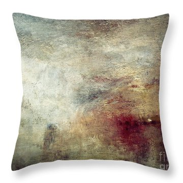 Turner: Sun Setting, C1840 Throw Pillow by Granger