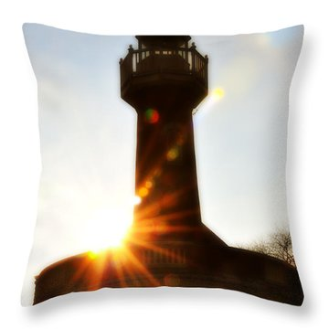 Turtle Rock Light House Throw Pillow by Bill Cannon