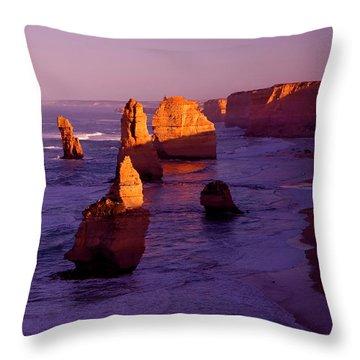 Twelve Apostle Dawn Throw Pillow by Mike  Dawson