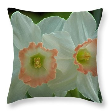 Twins Throw Pillow by Kathleen Struckle