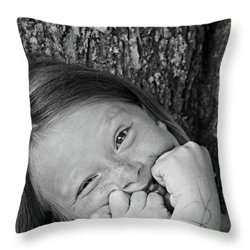 Twisted Expression Throw Pillow by Aimelle