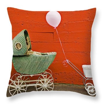 Two Baby Buggies  Throw Pillow by Garry Gay