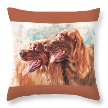 Two Redheads Throw Pillow by Debra Jones