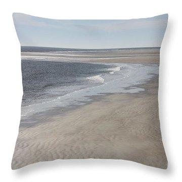 Tybee Island Beach Throw Pillow by Carol Groenen