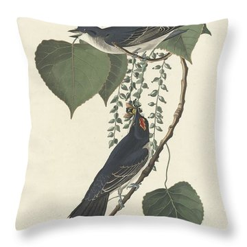 Tyrant Flycatcher Throw Pillow by John James Audubon