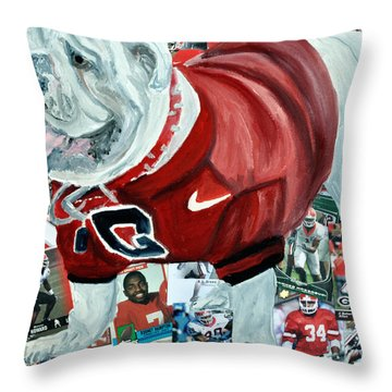 Ugga Throw Pillow by Michael Lee