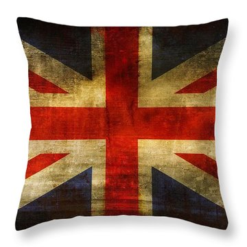 Uk Flag Throw Pillow by Brett Pfister