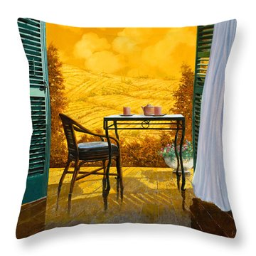 Un Caldo Pomeriggio D Throw Pillow by Guido Borelli